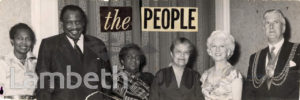 CLAUDIA JONES, PAUL ROBESON, LAMBETH MAYOR AND OTHERS
