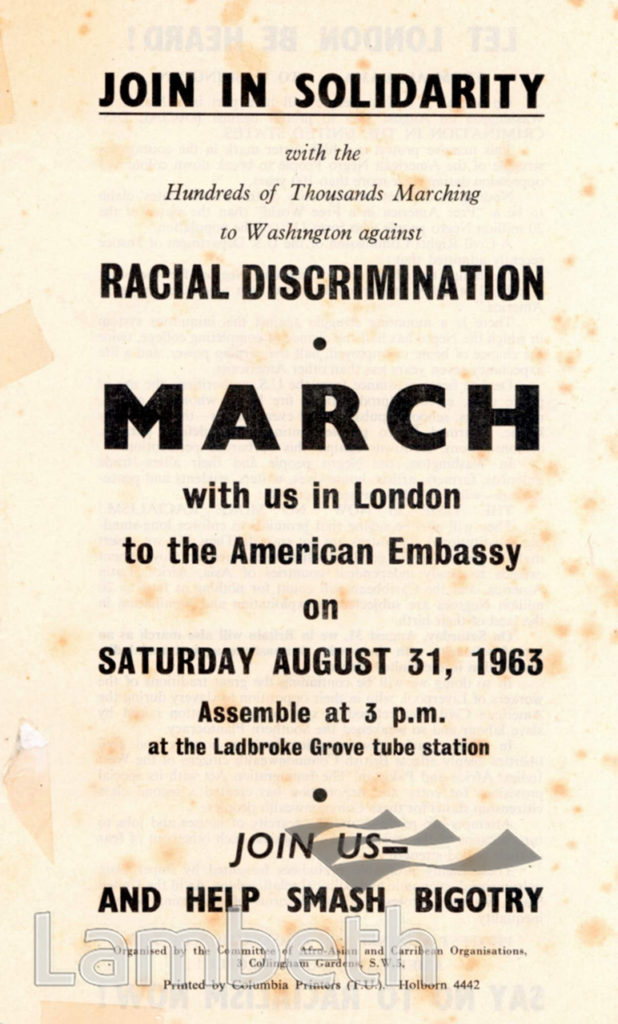 RACIAL DISCRIMINATION MARCH: POSTER
