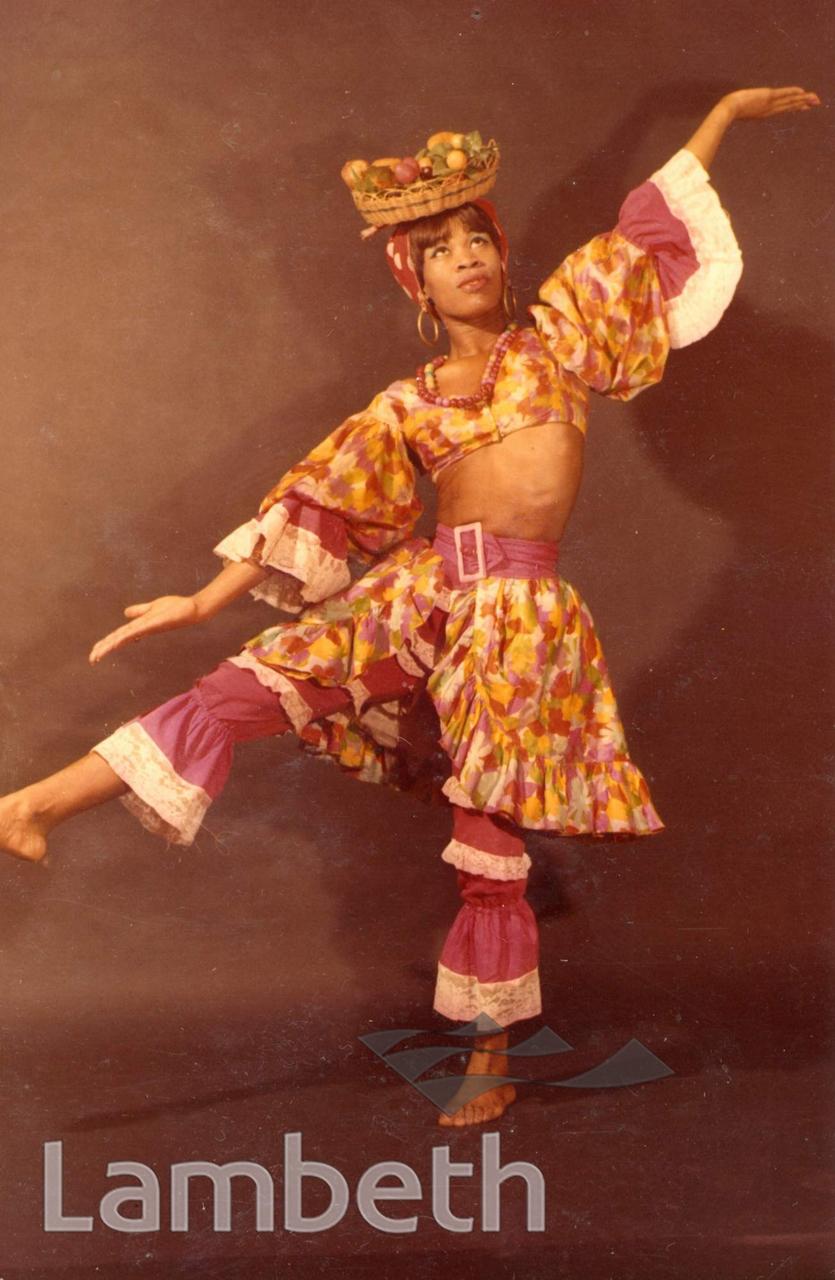 JAMAICAN DANCER IN A STILL FROM A DANCE ROUTINE