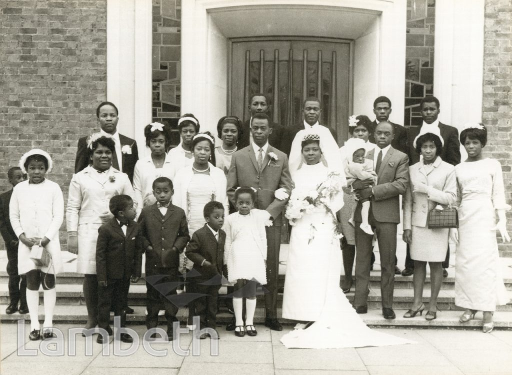 WEDDING PORTRAIT, CHATSWORTH BAPTIST CHURCH, WEST NORWOOD
