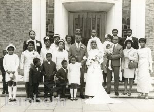 WEDDING PORTRAIT, CHATSWORTH BAPTIST CHURCH, WEST NORWOOD