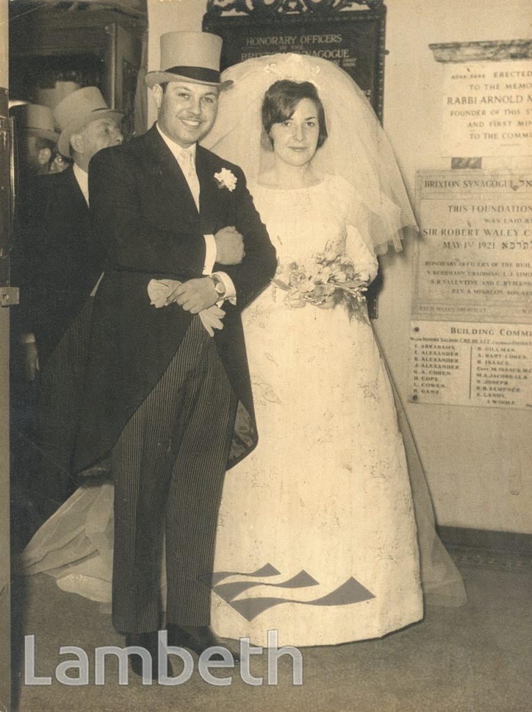 WEDDING PORTRAIT BY HARRY JACOBS, BRIXTON SYNAGOGUE