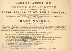 APPLICATION FOR ASYLUM OF ST ANN'S SOCIETY, STREATHAM HILL