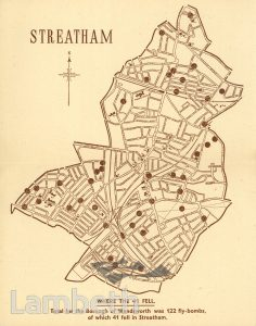 STREATHAM'S 41, WORLD WAR II FLYING BOMB MAP