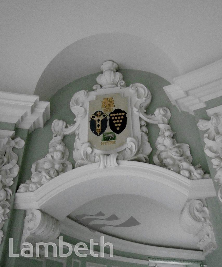 COAT OF ARMS, LAMBETH TOWN HALL REFURBISHMENT, BRIXTON