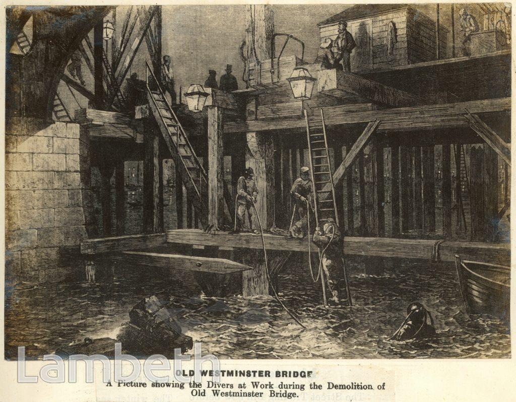 DEMOLITION OF OLD WESTMINSTER BRIDGE