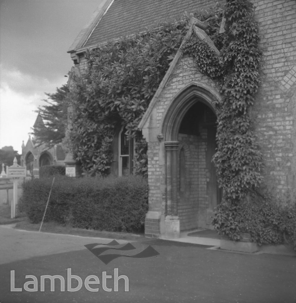 ENTRANCE LODGE, LAMBETH CEMETERY, BLACKSHAW ROAD, TOOTING