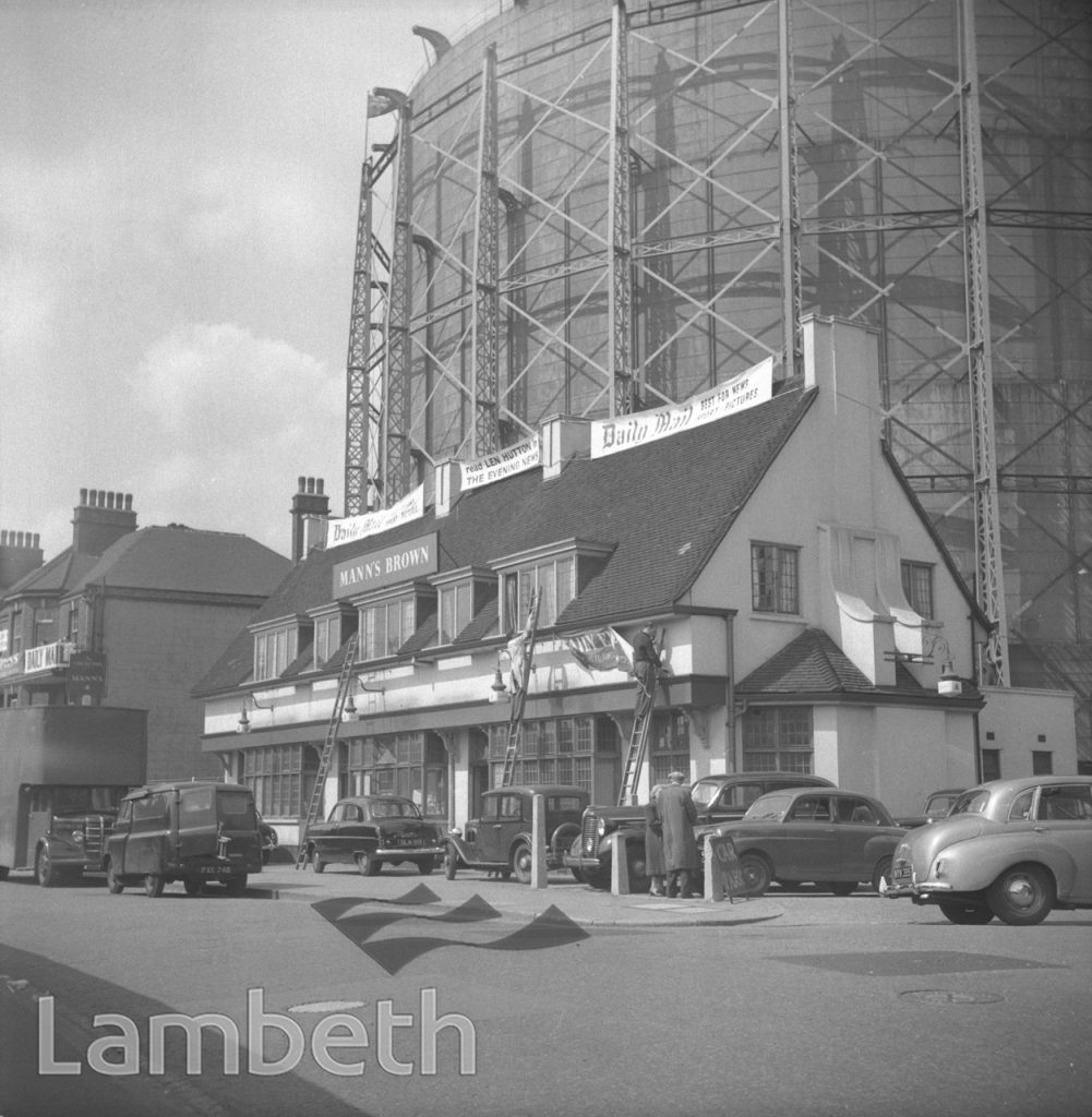 CRICKETER'S ARMS AND GASOMETERS, OVAL, KENNINGTON