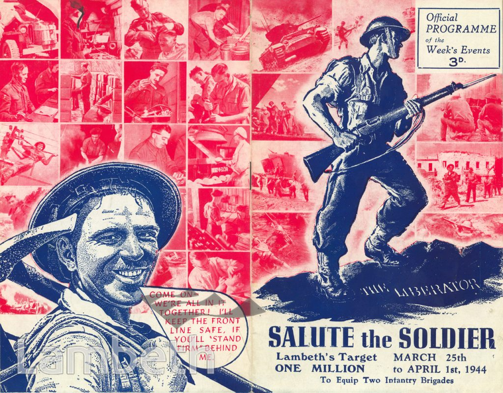 LAMBETH'S SALUTE THE SOLDIER WEEK, WORLD WAR II