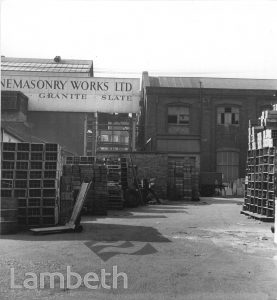 STONEMASONRY WORKS LTD, 78-84 WANDSWORTH RD, SOUTH LAMBETH