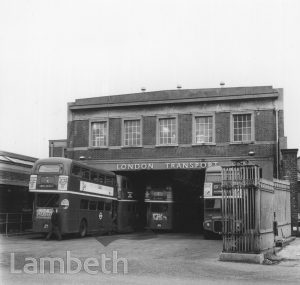 LONDON TRANSPORT BUS GARAGE, KNIGHT'S HILL, WEST NORWOOD
