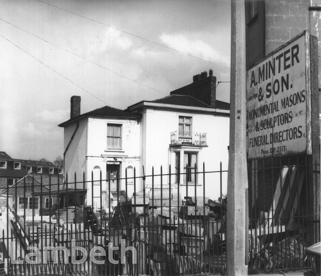 A. MINTER & SON, MASONS, AUCKLAND HILL, WEST NORWOOD