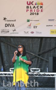 DAWN BUTLER MP, BLACK PRIDE, VAUXHALL PLEASURE GARDENS