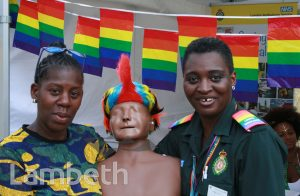 LONDON AMBULANCE SERVICE STAND, BLACK PRIDE, VAUXHALL