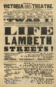 HANDBILL, ROYAL VICTORIA THEATRE, THE CUT, WATERLOO