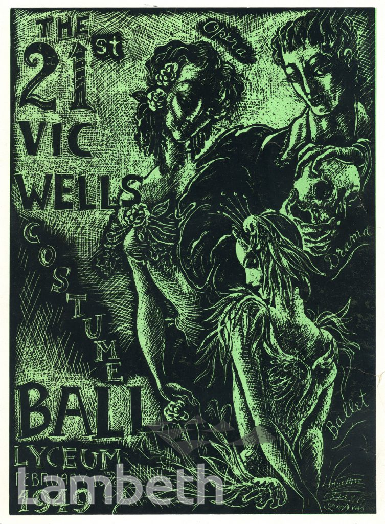 BALL PROGRAMME, OLD VIC THEATRE, THE CUT, WATERLOO