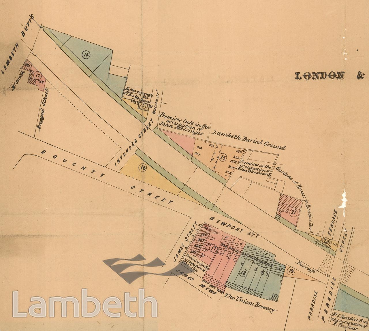 L&SW RAILWAY COMPANY AUCTION OF SURPLUS LAMBETH PROPERTIES