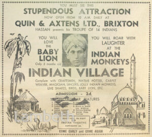 INDIAN VILLAGE, QUIN & AXTENS STORE, BRIXTON 14818