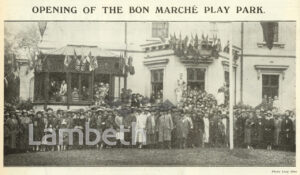 BON MARCHE SPORTS GROUND, CLARENCE ROAD, CLAPHAM PARK 14900