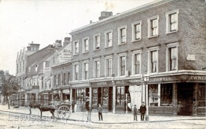 View opposite Toll House on corner of Rennell Street.