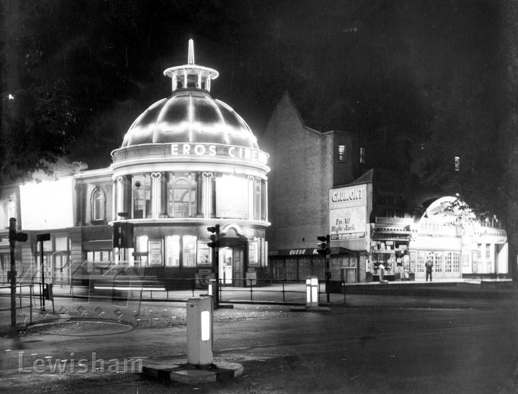 Lewisham Hippodrome (Eros Cinema) Exterior At Night