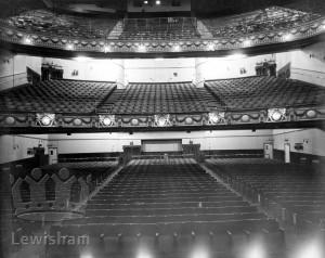 Lewisham Hippodrome interior from stage