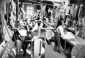 G A Harvey & Co The Old Zinc Shop At Lewisham Interior Showing Men At Work