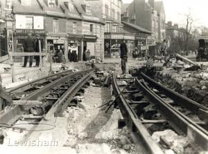 Laying Tram Tracks At Lee Green, Lee, Lewisham