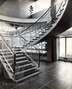 Bromley Road Library Entrance Hall & Staircase Prior To Official Opening 9 Feb 1963