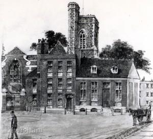 St.Nicholas Church, Deptford From An Original Watercolour By Lloyd Roberts