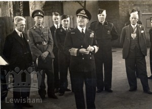 Civil Defence Inspection with Admiral Evans inspecting units