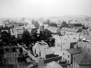 View From St Mary's Church Over Ladywell Road to Hilly Fields