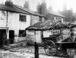 Deptford, Back Yard Of Houses In Mill Lane