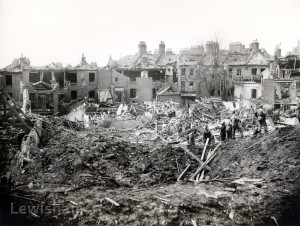 Wemyss Road, Blackheath, flying bomb damage
