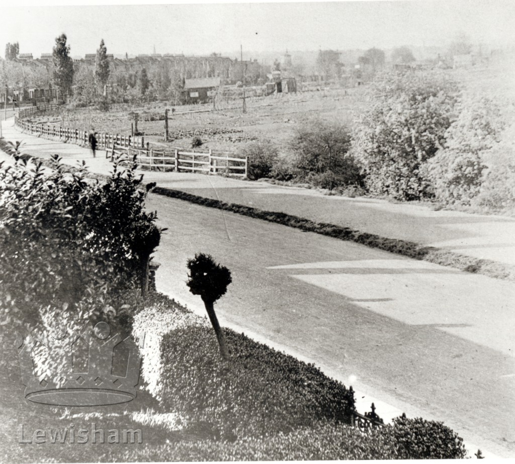 View from no. 140, Verdant Lane showing fields across road.