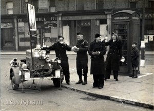 A.R.P Wardens in Deptford with a trailer pump