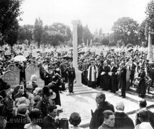 Dedication Memorial At Brockley Cemetery