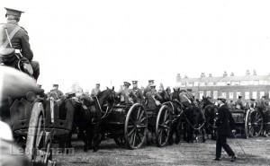 Horse artillery resting on Blackheath
