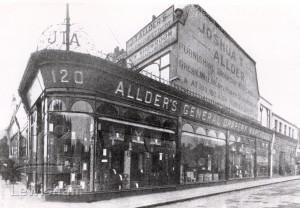 J. T. Allder's Furnishing Shop 120 Rushey Green