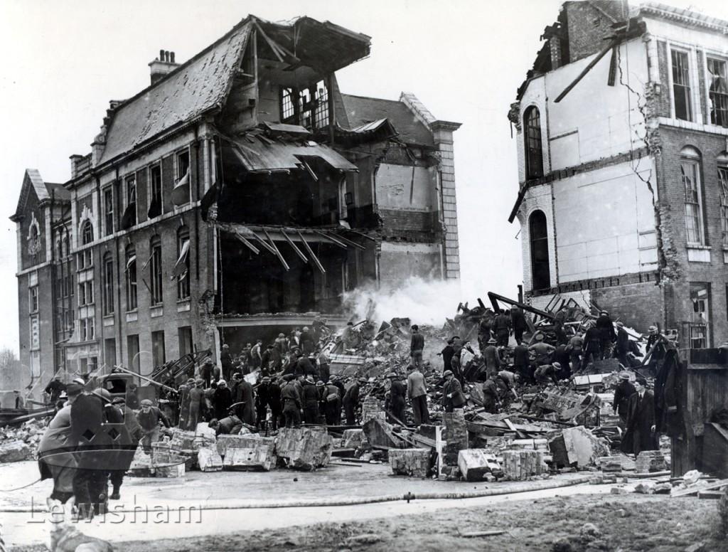 Sandhurst Road School bombed