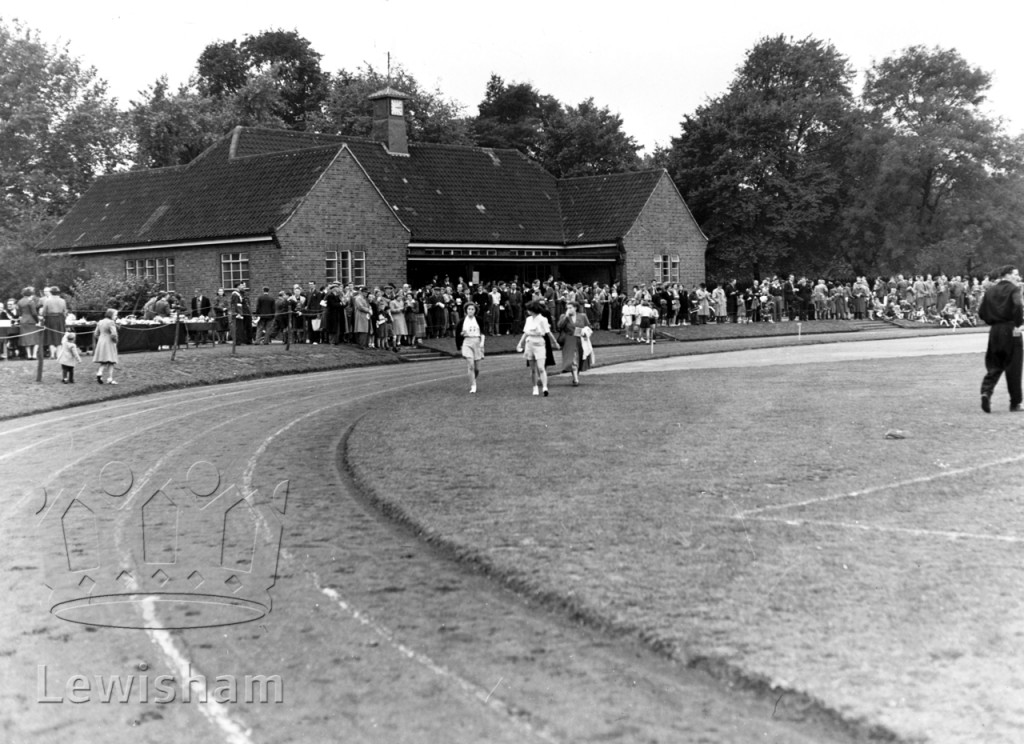 Ladywell Fields The Pavilion & Spectators At The Ladywell Track Jubilee Celebrations