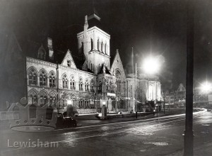 Lewisham Town Hall Floodlit For Lewisham Borough's Jubilee