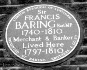 Sir Francis Baring Plaque, Manor House