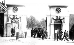 Deptford, Royal Victoria Victualling Yard, Main Gates At Knocking Off Time