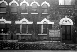 Kingdom Hall. Gospel Hall, Bennett Park, Blackheath, when in use by the Tenth Church of Christ, ?Scientist.