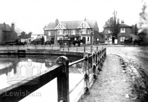 Southend Pond Showing The Green Man