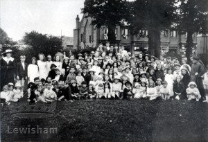 Children's party celebrating the Armistice, 1918.