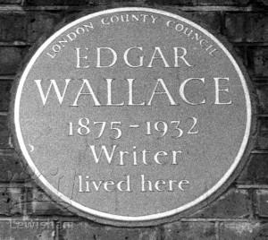 Edgar Wallace Blue Plaque