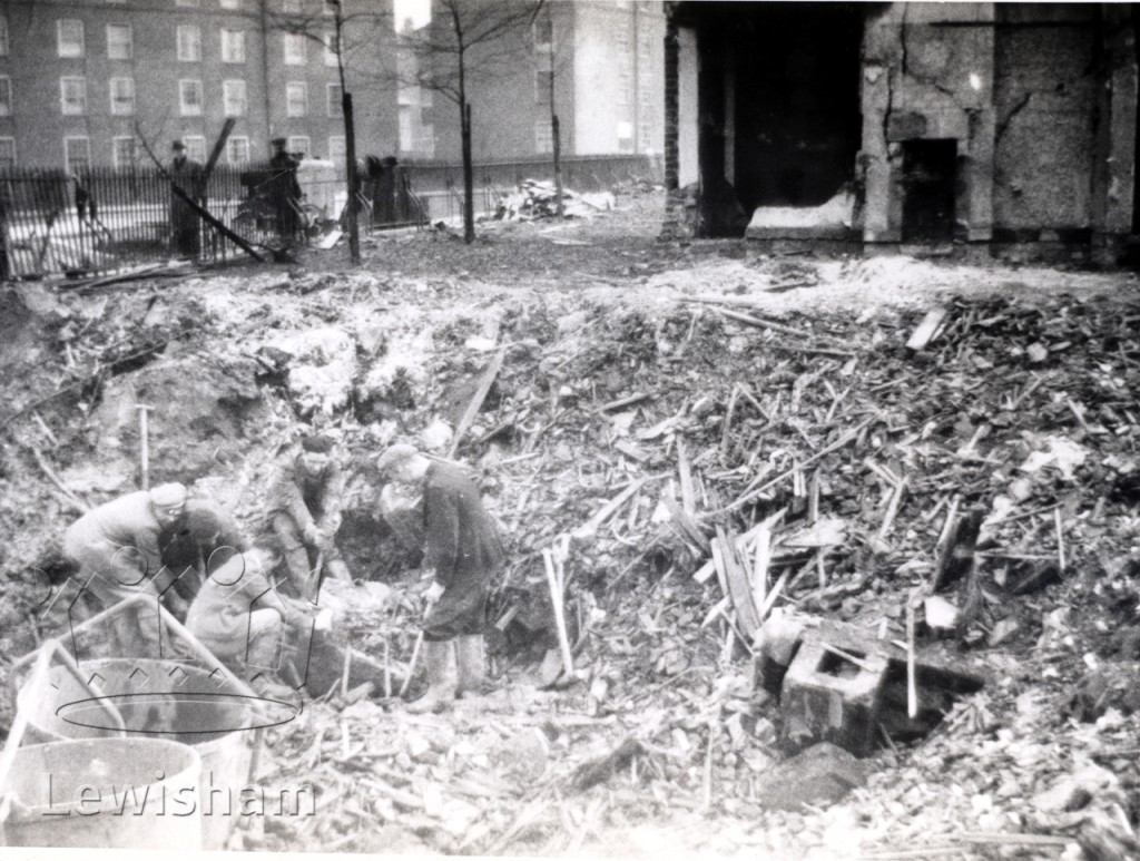 Bomb damage, Honor Oak Estate