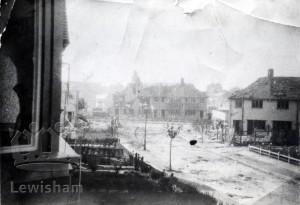 Bomb damage at Southend